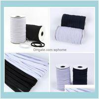 Textiles Tissu et couture Textiles Maison Jardin 0.3cm Matériau de haute qualité Couleur élastique de masque de masque masque de bungee T3I5746 DROP Livraison 202