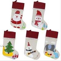Чулок рождественские подарочные сумки снеговика сосна украшения носок домашний фестиваль висит кулон Xmas орнамент NHF9187