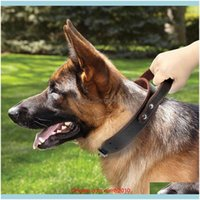 Collars Leashes Home & Gardentpfocus Stretchable Leather Dog Adjustable Neck Collar Supplies Pet Aessory Drop Delivery 2021 Yrg12