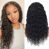 Lace Wigs Water Wave 13×4 Long Human Hair For Black Women Peruvian Front Pre Plucked Natural Hairline Frontal Waterwave Wig