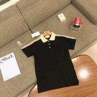2021 Летний отворотный рубашка поло с короткими рукавами мужские бренды Trend ins бизнес полуми рукава футболка мужчины