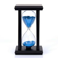 80% New Arrival 2021 45 / 60min Drewniany Zegar Sandglass Hourglass Timer Kuchnia Szkoła Home Decor H0922