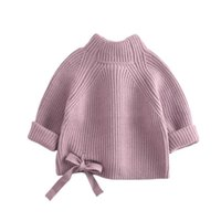 Pullover Toddler Girls Mock Neck Sweaters Cute Long Sleeve Solid Color Cable Knit Pullovers