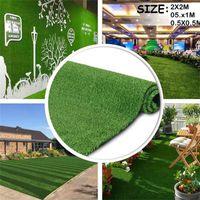 Decorative Flowers & Wreaths Outdoor Artificial Lawn Carpet Plastic Balcony School Green Yard Garden Decor Supplies Home
