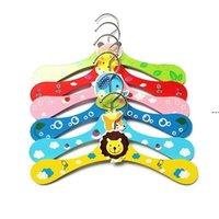귀여운 만화 동물 애완 동물 개 나무 옷걸이 아이 의류 아기 어린이 6 스타일 행거 HHB9094