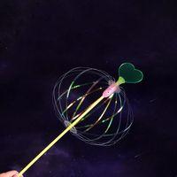 Flores decorativas grinaldas engraçado brinquedo magia e espumante e espinhoso girar girar colorido bolha forma brilho vara brinquedos para crianças crianças gi