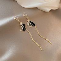 European and American fashion ins retro earrings tassel personality trend beautiful geometric lady alloy earrings