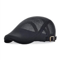 sboy Hats Sboy VOBOOM Flat Cap Men Women Summer Mesh Ivy Caps Casual Beret Hat Cabbie Classic Style Gatsby Adjustable Breathable Boina 124