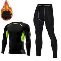 Homens Underwear térmico Homens de compressão Long Johns Mantenha o inverno quente roupa interior roupas para tracksuit 211025