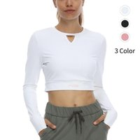 Yoga Outfit Women Long Sleeve Running Shirts Sexy Exposed Navel T-shirts Solid Sports Quick Dry Fitness Gym Crop Tops Sport Wear
