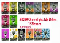2020 Future Glass Tube Preroll Labels Moonrock Dankwoods PRE-ROLL Joint Tube Packagings