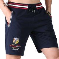 Bruceshark nuevo verano hombres deportes pantalones cortos de algodón strech recta pierna hombres pantalones cortos entrenamiento entrenamiento externamente casual m a 3xl 210315