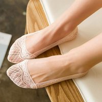 Calcetines Hosiery Moda Silicona Lace Boat Summer Style Women Cut Cut No Show Invisible Zapato Liner Liner Zapatillas Calcetines Mujer