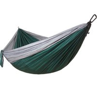 Hammocks Adults Single-person Parachute Cloth Hammock Super Light And Thin Breathable Swing Leisure Tourism Outdoor Hunting Sleeping Bed