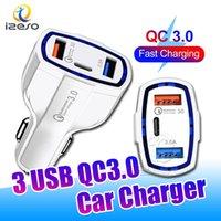 QC3.0 PD 자동차 충전기 3 in 1 유형 C USB 빠른 충전 7A 아이폰 13 Pro Max 12 11 XR Samsung Izeso 용 전원 어댑터