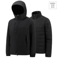 Down jacket Down jacket couple men's and women's three in one down submachine winter new clean face leisure sports thick coat