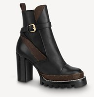 Mulheres Mulheres Mulheres Laureate Plataforma Desert Boot Martin Boots Star Trail Lace-Up Bota de Inverno Bota de Inverno Alto Salto alto com caixa