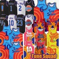 Space Jam Tun Tune Squad Basketball Jersey James 1 Bugs 22 Murray 10 Lola 1/3 Tweety! TAZ 2 D.DUCK 7 R.RUNNER DISTOIR LES JERSEYS BLUE DE LABRON FILM MENS