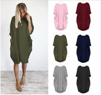 Yaz Kadın Rahat Çok Renkli Elbiseler Moda Ekip Boyun Panelli Bayanlar Elbiseler Rahat Uzun Kollu Gevşek Kadın Giysileri Artı Boyutu