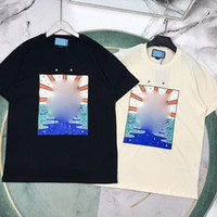 21ss hombres impresos t shirts ratón pato perro hombres ropa de manga corta camisas tags de las cartas polo nuevo blanco negro 02