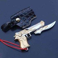 Kahraman Tanrı Çöl Kartal Gun Modeli Deri Kapak ile Alaşım Silah Sahne Oyuncaklar