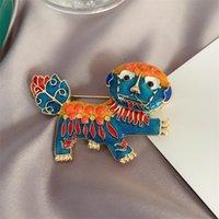 Le donne antiche Leone Donne meritano di Pin Unicorn Mascot Brooch Brooch Act Il ruolo dell'obiettivo è assaggiato