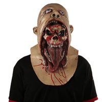 Cool Funny Halloween Bloody Scary Horror Mask Adult Zombie Monster Vampire Mask Latex Costume Party Full Head Cosplay Mask Masquerade Props