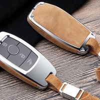 Faux Flip Pelz Auto Key Case Abdeckung für Mercedes Benz W202 W210 W211 W211 W212 W212 E Klasse 2018 Zubehör Keychain Halter Schlüsselanhänger