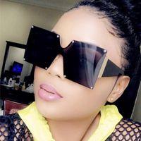Sunglasses Fashion 2021 Ladies Square Women Goggle Shades Vintage Brand Designer Oversized Sun Glasses For Female Men