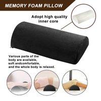 Pillow Back Pain Relief Memory Foam Half Moon Support Lumbar Bolster Leg Knee 2