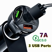 Car Charger USB Quick Charge QC3.0 Ports Car Cigarette Lighter Adapter for iPhone Samsung Huawei Xiaomi QC Car Phone Charging