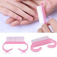 80 pcs 6.5 * 3,5 cm Pink Nail Art Dust Brush Tools limpo manicure pedicure ferramenta