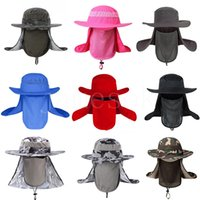 2021 Men Fishing Hat Outdoor Fishings Cap Uv Protection Adjustable Breathable Sunshade Solid Casual Hats DD576