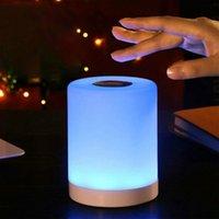 USB Smart Lampe de chevet Lampe LED Lampe de table Amitié Creative Lit Lampe de bureau pour bébé Chambre à coucher Lampe de chevet Lampe de nuit Cadeau de Noël