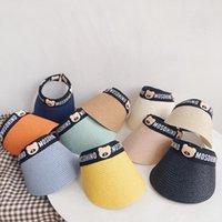 Sápiendo y cómodo y cómodo baby baby bey moda gorra vacío sombrero de paja verano sombrero de sol para niños y niñas con protección UV