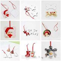 Yaratıcı Güzel Noel Süsler Boş Dairesel Kardan Adam Kar Tanesi Şekli Çift Taraflı Isı Transferi Noel Kolye