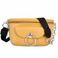 Мода Сплошной цвет круглый замок PU кожа женские сумки мессенджер сумка для женщин талии сумки SAC Banane роскошь K0LY #