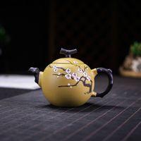 Otantik Yeni Çay Potu Mor Kil Erik Ejderha Yumurta Çaydanlık Ore Güzellik Su Isıtıcısı El Yapımı Çay Seti Özelleştirilmiş Hediyeler 250ml