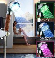 Ducha de baño LED Jetable ajustable Cabeza de ducha de alta presión Ahorro de agua Agua Baño Anion Filtro de ducha Boquilla de spa Envío gratis