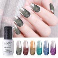 Nail Art Kits HNM Uv Color Gel Polish Set 6PCS Soak Off Varnish Primer LED Pearl Effect Semi Permanent Vernis Hybird Lacquer 8ML
