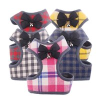 Cat Collars & Leads Fashion Plaid Harnesses For Cats Summer Mesh Pet Harness And Leash Set Kitten Kitty Mascotas Small Dog Puppy Products