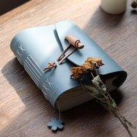 Notepades Haute Qualité Cuir Diary Notebook Cadre à la main Écriture à la main Sketchbook Journal de voyage Journal vierge Papier Note Books cadeau