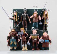 8 sztuk / zestaw 10-13 cm Jak wytresować Smok 3 Figurki Działanie PCV Figurki Klasyczne zabawki Prezent dla dzieci dla dzieci
