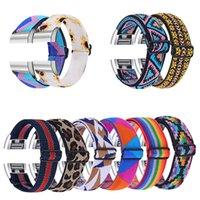 Uhrenbänder einteilige elastische Elastizität Feder geflochtene Riemen einstellbare Nylon-Uhren kompatibel für Fitbit-Ladung 2 3 4 Versa 3 Sense-Band