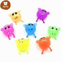 Party Favor Decompression Pig Anti Stress Splat Vent Toys Venting Sticky Smash Water Ball Squeeze Toy tr