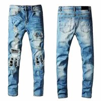 Men's jeans designer jeans high quality pants hole drawing classic luxury multicolor 2021 hot selling variety spring, summer, autumn and winter