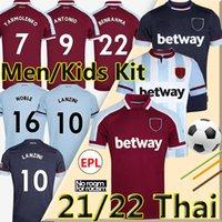 21/22 West Soccer Jerseys Ham 2021 2022 United Iron Maiden X Lingard Yarmolenko Lanzini Noble Bowen Antonio Football Shirt Fornals Riz Hommes Kit enfants Soucek Benrahma