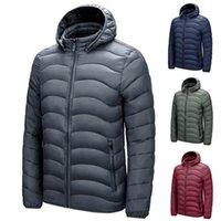 Men's Down & Parkas Laamei Brand Winter Warm Waterproof Jacket Men 2021 Autumn Lightweight Hooded Mens Fashion Casual Slim Coat