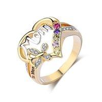 Muttertag Ring Geschenk für Mom Buchstaben Ring Mode Valentinstag Frauen Mädchen Geburtstag Festival Anwesende Ringe Schmuck G30102