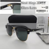 최고 품질의 럭셔리 디자이너 선글라스 유리 렌즈 금속 힌지 판자 프레임 패션 남자 여성 스포츠 빈티지 태양 안경 패키지